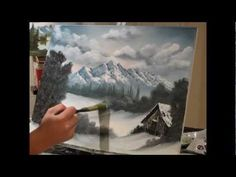 Wet on Wet oil Painting Snow Scene with Kevin Hill