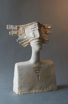 Ceramic bust, unique ceramic sculpture, clay sculpture, bust of a man, potte … Paper Mache Sculpture, Sculpture Art, Clay Sculptures, Pottery Sculpture, Garden Statues For Sale, Ceramic Texture, Scrap Metal Art, Art Object, Bronze Sculpture