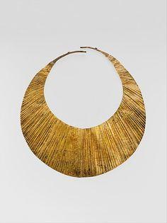 Indonesia ~ Nias Island | Necklace (Nifato-fato, Ni'ohalagae, or Kalambagi) from the Ono Niha people.  Gold alloy | ca. Late 19th to early 20th century