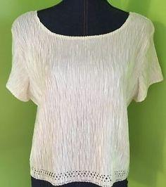 Women's Accordion Pleat Libra Brand XL x Large Short Sleeve Top Shirt Blouse | eBay