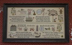 Nantucket Girl's Sampler counted cross stitch pattern : Plum Street Samplers summer beach ocean The Cottage Needle by thecottageneedle