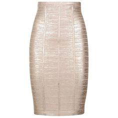 Herve Leger Angeline Fitted Skirt ($1,105) ❤ liked on Polyvore featuring skirts, fitted pencil skirt, knee length pencil skirt, pink pencil skirt, fitted skirts and bandage skirt