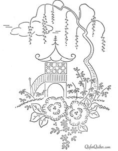 Free vintage chick embroidery transfer pattern embroidery embroidery basket of flowers dt1010fo