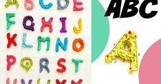Abecedarios a crochet, letras a ganchillo Alphabet, Crochet Letters