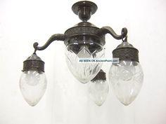Rare 20s Art Nouveau Ceiling Lamp Pendant Lamp Art Deco Art Nouveau photo