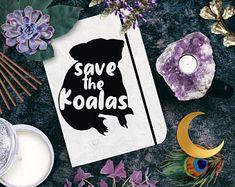 Australian Bushfire Fundraiser Save the Koalas Sticker Witchcraft Supplies, Fundraising, Herbs, Candles, Stickers, Unique Jewelry, Handmade Gifts, Koalas, Kid Craft Gifts