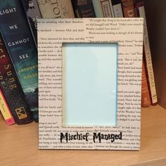 3.5x5 Harry Potter Picture Frame, Mischief Managed, Harry Potter gift, Wedding gift, Harry Potter Decor, Harry Potter Frame by StuffSamMakesDecor on Etsy