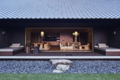 Located in Ise-Shima National Park, Amanemu suggests a modern interpretation of traditional Edo-period farmhouses.