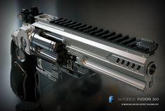 toy heavy revolver. Konstantin  for 3d printing