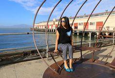 Stripe zara pants | La Vie de Villa #fashion #streetstyle #blogger