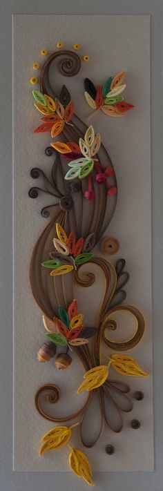 neli: Quilling card - Fall of the leaves