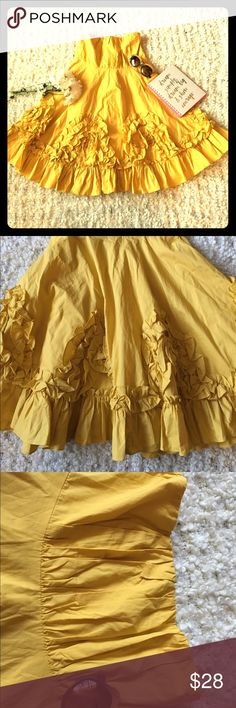 Anthropologie Ryu gorgeous babydoll  👗 Size M. In excellent like new condition. Stunning and unique. This playful sunny dress is sure to draw all eyes on you at your next outing. Anthropologie Dresses Strapless