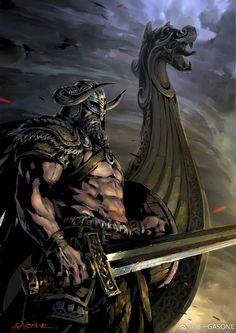 Warrior Concept Art, Fantasy Warrior, Viking Character, Character Art, For Honor Viking, Viking Warrior Tattoos, Viking Ship Tattoo, Viking Art, Viking Woman
