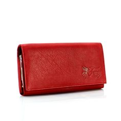 Fairy valódi bőr piros női pénztárca díszdobozban - NŐI PÉNZTÁRCÁK - Táska webáruház - bőrönd, hátizsák, iskolatáska, laptoptáska