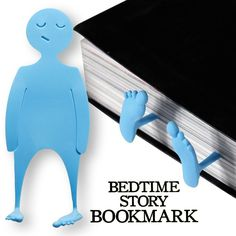 Flat Man Bedtime Story Bookmark