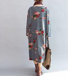 Bloom/ Loose Long sleeved Long dress/ Fashion large size от MaLieb
