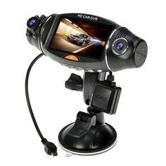ข้อมูลดี2.7 LCD Screen 140 Degrees Rotating Dual Len Vehicle DVR RoadDashVideo Camera Recorder Traffic Dashboard Recorder w/ GPS Logger+G-sensor - intl+ลดสูงสุด70%