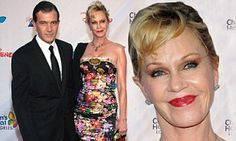 Taunts: Melanie Griffith with her husband Antonio Banderas at the Children's Hospital Los Angeles Gala over the weekend
