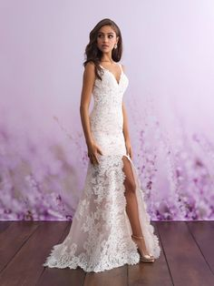 There's no better way to share your attention to detail and fashion than an Allure romance wedding dress. Our stunning selection of allure romance bridal dresses are sure to have you looking your best on your special day! Wedding Dress Pictures, Sexy Wedding Dresses, Bridal Dresses, Wedding Gowns, Lace Wedding, Bridal Gown, Wedding Dresses For Petite Women, Beige Wedding Dress, Civil Wedding Dresses