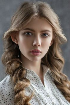Magnificent Rolled Braided Long Hairstyles 2019 for Teenage Girls to Consider Th., Frisuren,, Magnificent Rolled Braided Long Hairstyles 2019 for Teenage Girls to Consider Th. Girl Face, Woman Face, Actrices Sexy, Poses References, Model Face, Braids For Long Hair, Beautiful Eyes, Pretty Face, Braided Hairstyles
