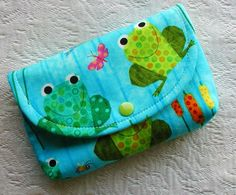 Large Snap Pouch Frogs on a Whim by Hot4Handbags on Etsy, $6.00