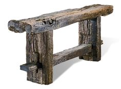 Franconia Notch Console Table Interlude Home Driftwood Furniture, Log Furniture, Barn Wood Projects, Woodworking Projects Diy, Rustic Stools, Rustic Wood, New Home Designs, Diy Home Crafts, Mid Century Furniture