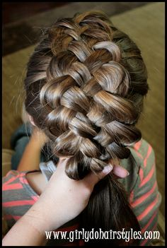 Five Strand Puffy Braiding by {Girly Do Hairstyles} | Skip To My Lou