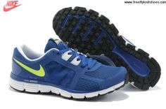 Latest Listing Mens Nike Dual Fusion ST 2 Royal Blue Lime Green Shoes The Most Flexible Running Shoes