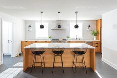 Designing Brick Kitchens for Your Style Home   Fireclay Tile Fireclay Tile, Thin Brick, Green Kitchen, Color Tile, Kitchen Backsplash, Home Remodeling, Kitchen Design, Modern, House