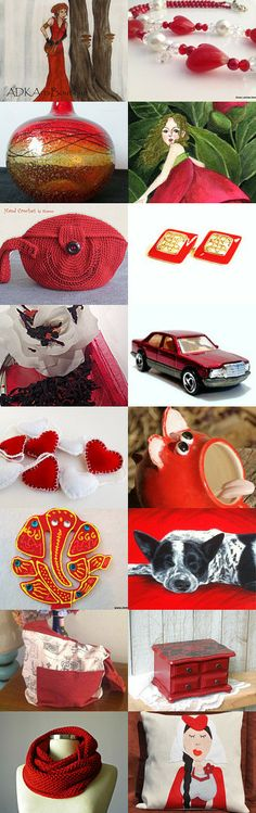 Beautiful red finds by Petra Brömme on Etsy--Pinned with TreasuryPin.com