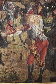 Carpaccio,The Martyrdom and the Funeral of St. Abstract Sculpture, Wood Sculpture, Bronze Sculpture, Renaissance Kunst, Renaissance Portraits, Medieval Archer, Medieval Art, Ursula, Starwars