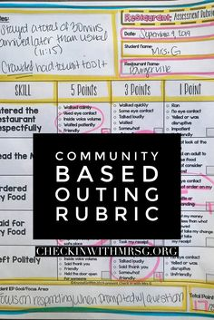 Prepare your students for community based instruction using community based instruction lessons, worksheets and rubrics before you ever leave the classroom. Set your students up for a successful community outing! Life Skills Classroom, Teaching Social Skills, Teaching Language Arts, Special Education Classroom, Teaching Math, Physical Education, Maths, Paragraph Writing, Persuasive Writing