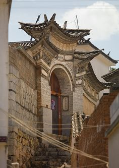 Old Chinese traditional gate, Xizhou, Yunnan Province, China | Flickr - Photo Sharing!