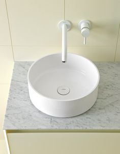 Glaze Round Top Mount Ceramilux® Sink by Inbani | Wash basins