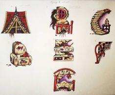 Automatonaphobia illustrative font (it's inspired by the fear of dolls)  #dolls #dollshouse #illustrativetypeface #illustrativetype #typography #typographydesign #illustration #acrylicpainting #freakydolls #illustrationartists Illustration Artists, Digital Illustration, Illustrations, Dolls Dolls, Typography Design, Inspired, Inspiration, Biblical Inspiration, Type Design