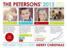 Year in Review Christmas Cards