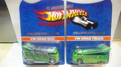2013 Hot Wheels Mexico 6th Convention Sellers Exclusive VW Drag Bus & Drag Truck