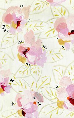 Soft pink florals.