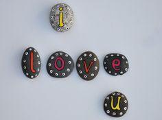 piedras pintadas i love you