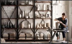 Here's a dream pottery room...minus all the dust and clay...