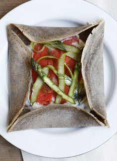 Buckwheat Crepe with Wild Smoked Salmon. (Try filling them with ...