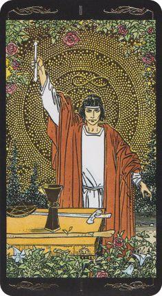 The Magician - Golden-Universal-Tarot- Roberto De Angelis - Lo Scarabeo 2012