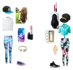 """""""Untitled #5"""" by mindlessmimi143 ❤ liked on Polyvore featuring KIMEM, Boohoo, NIKE, Vans, Aéropostale, Wet Seal, Topshop, EF Collection and Stila"""