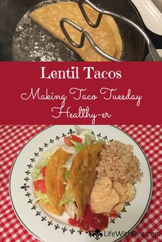 I've been a fan of tacos all my life. During our time eating vegetarian we discovered that lentil tacos are every bit as delicious. And a little healthier!