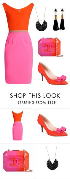 """""""pink vs orange"""" by rebekahp1994 ❤ liked on Polyvore featuring Emilio De La Morena, Kate Spade and Chanel"""