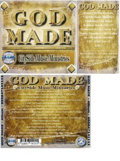 65 Count White CD DVD Sleeves w/  GOD MADE (Full CD)   Video Game Paper Sleeves  #GodMadeCDSleevesCDEnvelopesSALVATION