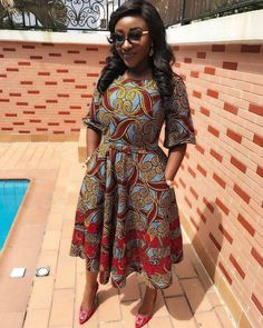 Interesting African Print Styles From Ini Edo's Collection African Print Dresses, African Fashion Dresses, African Dress, Ankara Fashion, African Prints, African Clothes, African Cake, Nigerian Fashion, African Outfits