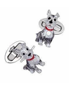Schnauzer Dog Cuff Links