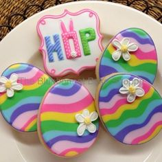 A little late to IG but these were some of my Easter cookies.