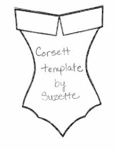 Corsett by Suzette Marie - Cards and Paper Crafts at SplitcoaststampersCorsett Template Card use for size of bra and undiesHere is the template I used for my Kisses card. Card Patterns, Sewing Patterns, Handkerchief Crafts, Dress Card, Vintage Handkerchiefs, Card Templates, Invitation Templates, Diy Cards, Paper Dolls